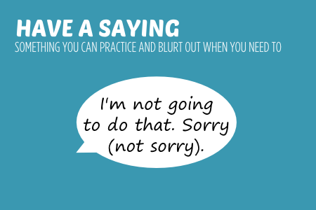 Bish guide to no have a saying